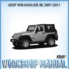 JEEP WRANGLER JK 2007-2011 WORKSHOP REPAIR SERVICE MANUAL IN DISC