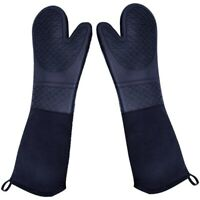 Extra Long Silicone Oven Mitts Heavy Duty Commercial Grade Oven Mitts Heat Re ap