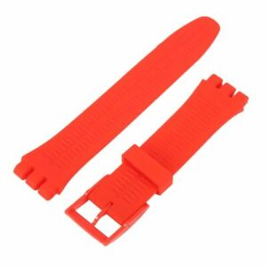 Men's Diver Watch Band Silicone S Watch Band Strap Link Replacement 17-20mm UK