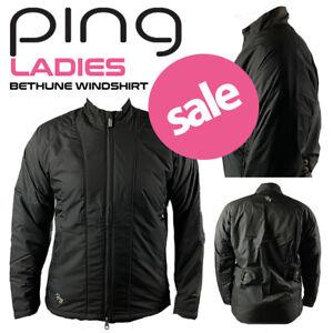 Ping Bethune Ladies Full Zip Padded Golf Wind Jacket Black - NEW! **REDUCED**
