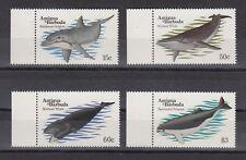 TIMBRE STAMP 4 ILE ANTIGUA Y&T#697-700 BALEINE DAUPHIN NEUF**/MNH-MINT 1983 ~B80