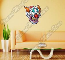 "Zombie Clown Head Cirque Angry Wall Sticker Room Interior Decor 20""X25"""