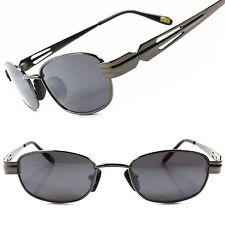 Old Fashion Vintage Retro 80s Mens Womens Gunmetal Rectangle Hipster Sunglasses