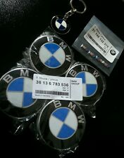 4 Xblue Original Colour Fits BMW MOST Series 68 mm Alloy with Keyring and M agita