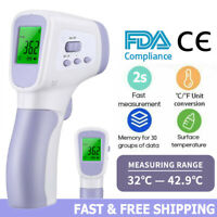 Non-Contact Infrared Digital Forehead Thermometer Baby/Adult Temperature Gun USA