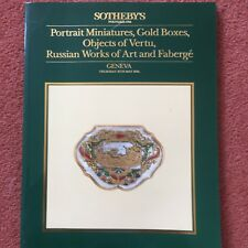 Sotheby's Catalogue Miniatures, Gold Boxes, Works of Art,Faberge etc 16 May 1985