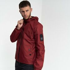 Duck and Cover - Men's 'Goodman' Hooded High Neck Windproof Raincoat Jacket