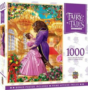 Classic Fairy Tales Beauty and the Beast 1000 Pc. Disney Jigsaw Puzzle + Poster