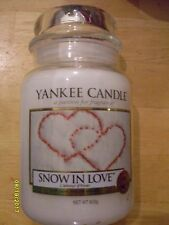 Yankee Candle Snow In Love 22 oz One Wick NEW Christmas Holiday European