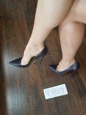 NWT 695$ Jimmy Choo ARI Anouk Kid leather blackberry pumps heels size 39.5 9.5 9
