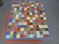 "Patchwork Baby Toddler or Lap Quilt Blanket 53"" x 45"""
