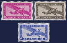 INDOCHINE PA N°17/19** Avions, 1941 French Indochina Airmail set MNH