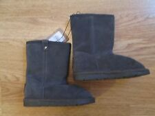 toddler girls boots Mantaray real suede leather grey boots infant 7 Debenhams