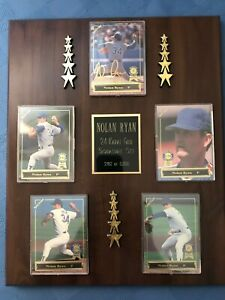 Nolan Ryan COMPLETE SET of 5 Cards w/FRAME 1993 Spectrum 24K Gold Signature