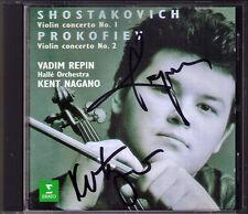 Vadim REPIN Kent NAGANO Signed SHOSTAKOVICH PROKOFIEV Violin Concerto 1 2 CD