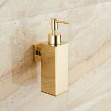Bathroom Soap Dispenser Storage Holder Bath Shower Lotion Bottle SUS Wall Mount