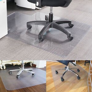 900X1200 Non Slip Home Office Chair Desk Mat Floor Protector PVC Plastic Clear