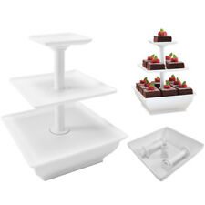 White 3 Tier Cake Stand Plastic Cupcake Wedding Party Display Dessert Stand