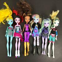 Monster High DOLL Lot of 6 Clawdeen Twyla Lagoona Blue Abbey Bominable Operetta