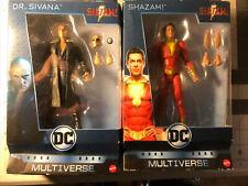 DC Multiverse Shazam! Dr. Sivana Movie  Figure Lot Mattel new Sealed MOC NIB