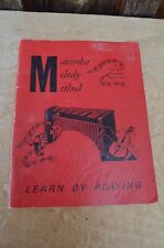 VTG 1968 Marimba Melody Method Songbook Sheet Music Contemporary Beginner Folk