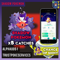 Pokemon Go Team Rocket Invasion - Shadow Pokemon Catches x5 - Chance of Shiny