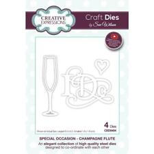 Creative Expressions  Sue Wilson Dies Special Occasions Champagne Flute, CED9404