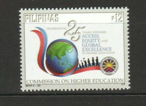 PHILIPPINES 2019 COMMISSION ON HIGHER EDUCATION COMP. SET OF 1 STAMP IN MINT MNH