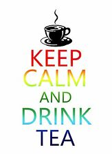 Keep Calm and Drink Tea Coffee STICKER DECAL VINYL BUMPER CAR Truck Cup Laptop