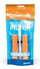 2 Pack of WaterBasics Emergency Survival Water Filter Straw