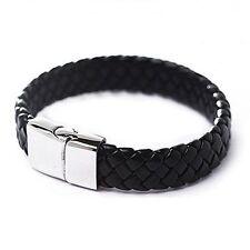 Leather Alloy Bangle Costume Bracelets without Stone