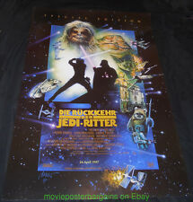 RETURN OF THE JEDI MOVIE POSTER 23x33 Inch GERMAN R1997 STAR WARS Film