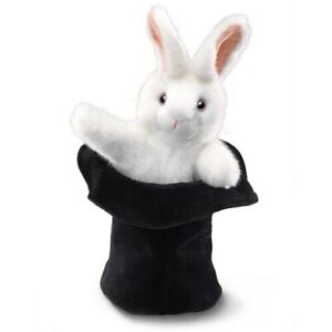Folkmanis Rabbit in the Hat Hand Puppet