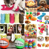 Cute Puppy Pet Dog Cat Dental Teething Healthy Teeth Chew Training Play Ball Toy