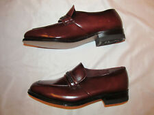 vintage 70's NUNN BUSH espresso polished leather loafers slip on dress shoes NOS