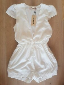 Reverse Playsuit Romper - White / Size S NWT