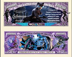 CATWOMAN - BILLET MILLION DOLLAR US! Collection BATMAN Super Heros Comics BD dc