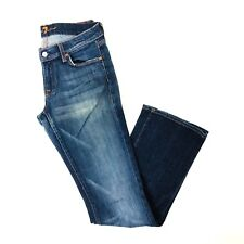 7 FOR ALL MANKIND Jeans Mid Rise Boot Cut Dark Wash 30x33 *MADE IN USA*