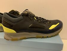 Lanvin Sneakers Neon Yellow And Metallic Navy Size 10Uk VGC Boxed W Dust Bags