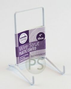 """White Wire SMALL Display Stand 10cm, 4"""" : Strut Plate Picture Frame Photo ST02WL"""