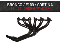 Headers / Extractors for Ford Bronco / F100 / Cortina - 3.3L & 4.1L X-Flow Motor