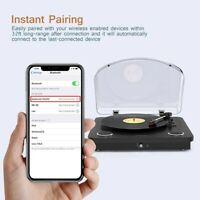 Vinly Record Player, dodocoool Wireless Turntable 3-Speed with Built in 2 Stereo