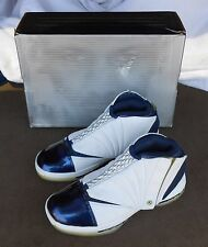 1990 NIKE AIR JORDAN VXI SIZE 7.5 WHITE/MIDNIGHT NAVY BASKETBALL SHOES NEW & BOX