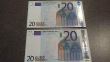 2 billets 20 euros 2002  FRANCE Duisenberg L01263