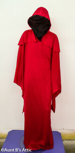 """Horror Robe Red """"Invisible Face"""" Long Hooded Poly Halloween Horror Costume"""