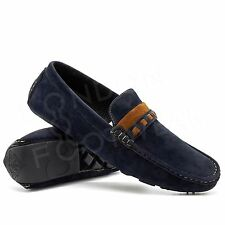 New Mens Faux Suede Casual Loafers Slip On Designer Driving Shoes Moccasins Boat