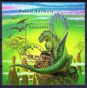 0219++TANZANIE  BLOC  ANIMAUX  PREHISTORIQUES  1994