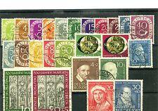 BRD -Jahrgang 1951 o ( 123 - 147 ) - KW 470,-- €  ( 13892 )