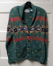 """SHARON YOUNG"" BRAND ""INDIAN BLANKET"" SWEATER-COAT, SIZE SMALL, NWT"