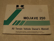 1997 Kawasaki MOJAVE 250 All Terrain Vehicle Owner's Manual 99920-1793-01